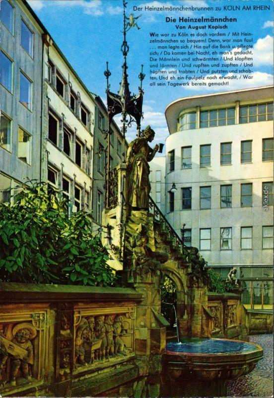 Ansichtskarte Köln Heinzelmännchenbrunnen 1995