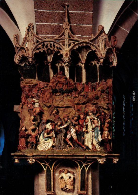 Köln St. Ursula-Kirche - Kalkstein-Relief einer Kreuztragung 1995