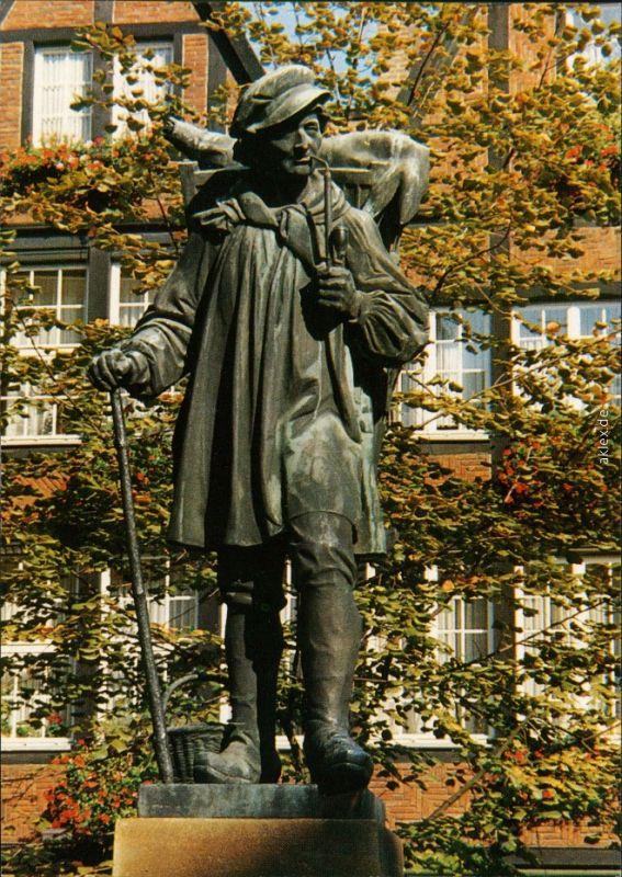 Ansichtskarte Münster (Westfalen) Kiepenkerl - Denkmal 1988