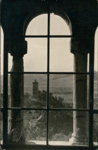 Ansichtskarte Bad Kösen Blick durch ein Fenster 1953