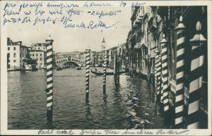 Cartoline Venedig Venezia Canal Grande 1934