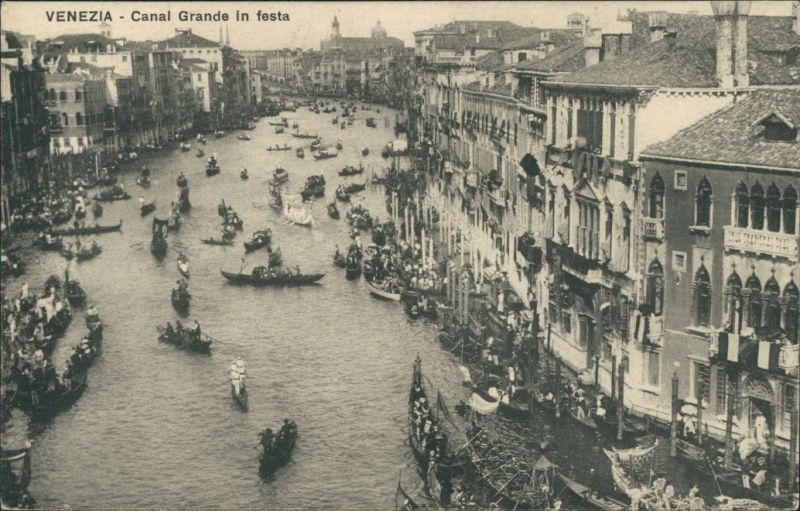 Cartoline Venedig Venezia Canal Grande in festa 1924