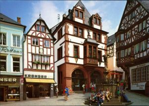 Ansichtskarte Bernkastel-Kues Berncastel-Cues Markt mit Rathaus 1995