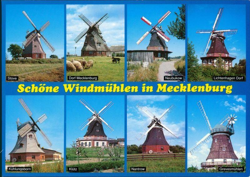 Ansichtskarte Mecklenburg Vorpommern Schöne Windmühlen 1995