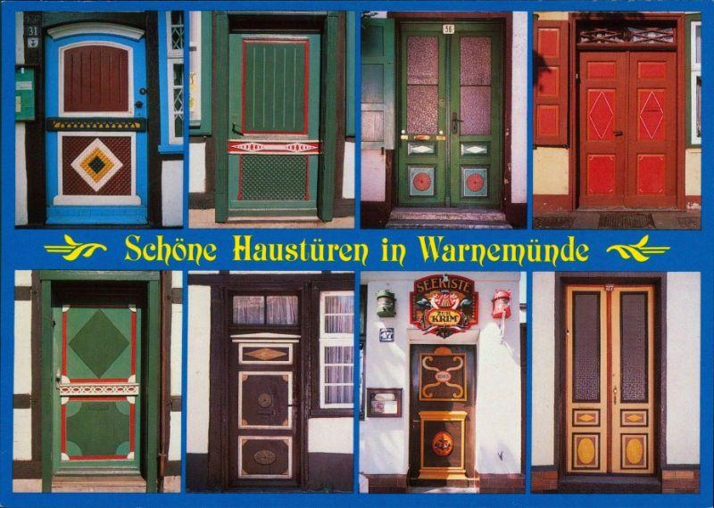 Ansichtskarte Warnemünde-Rostock Schöne Haustüren 1995