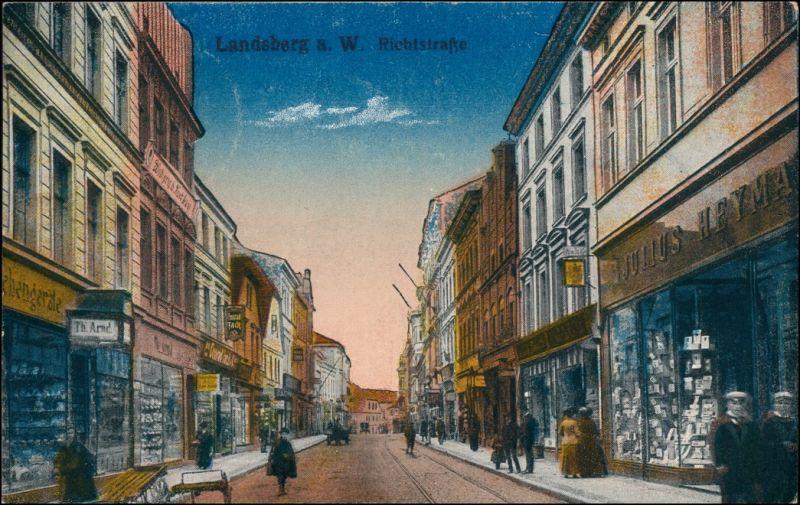 Landsberg (Warthe) Gorzów Wielkopolski Geschäfte in der Richtstraße 1918