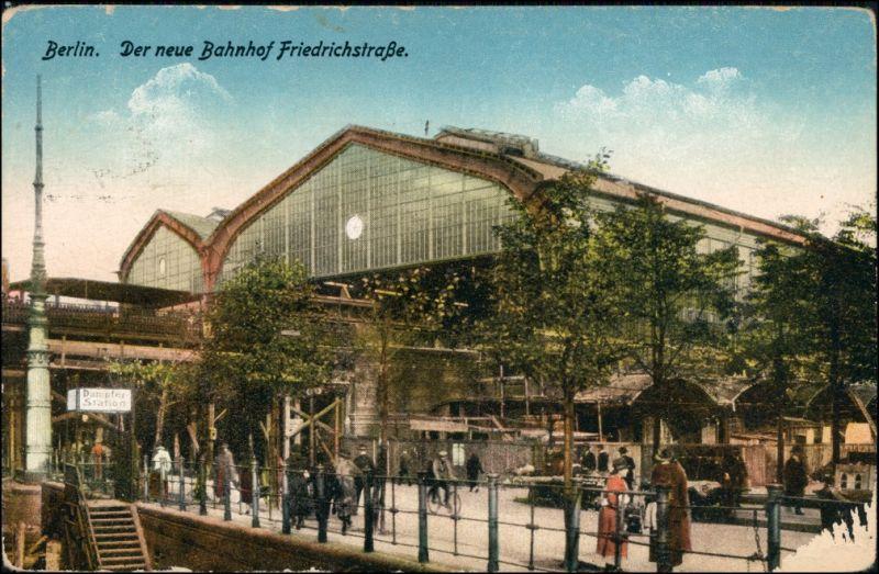 Mitte-Berlin Partie am Bahnhof Friedrichstraße Bahnhof Friedrichstraße 1915