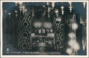 Bethlehem בֵּית לֶחֶם بيت لحم Grotto of the Nativity/Geburtsgrotte 1929