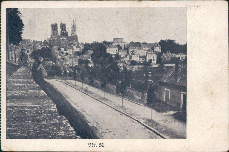 Felpost Panorama Französische Stadt ca 1915