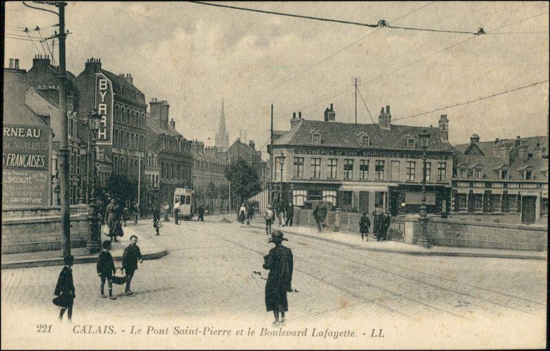 CPA Calais Boulevard Lafayette 1909