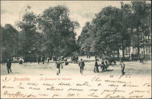 Postkaart Brüssel Bruxelles Le Boulevard de Waterloo 1902