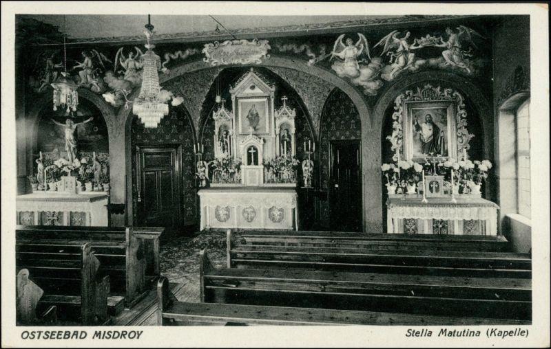 Misdroy Międzyzdroje Kapelle - Innenansicht Stella Matulina 1932