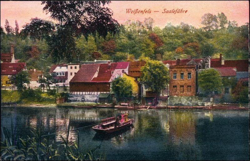 Ansichtskarte Weißenfels Stadt und Saalefähre 1915
