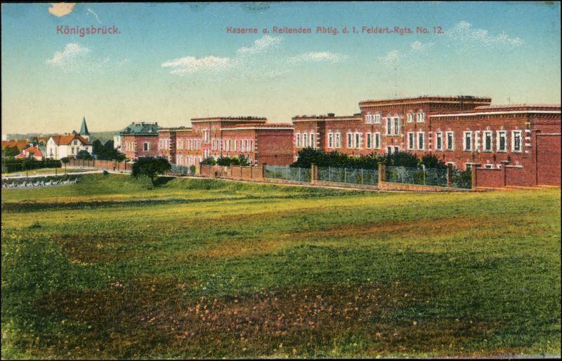 Königsbrück  Kaserne der reitenden Abtlg. Feldart. Rgts. 12 - Stadt 1914