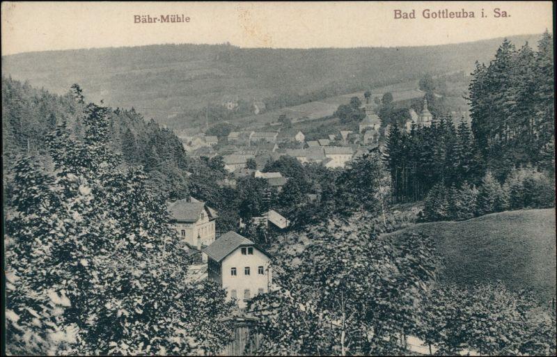 Ansichtskarte Bad Gottleuba-Berggießhübel Bähr-Mühle 1913