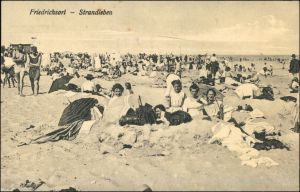 Ansichtskarte Friedrichsort-Kiel Strandleben 1926