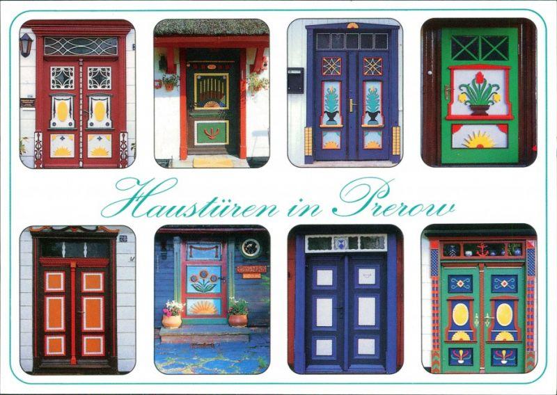 Ansichtskarte Prerow Haustüren 1995