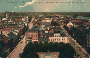 Landsberg (Warthe) Gorzów Wielkopolski Straße, östlicher Teil  Marienturm 1911
