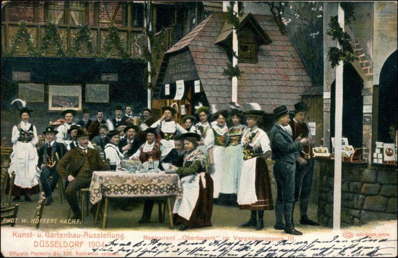 Düsseldorf Kunst- und Gartenbauausstellung Restaurant Oberbayern 1904