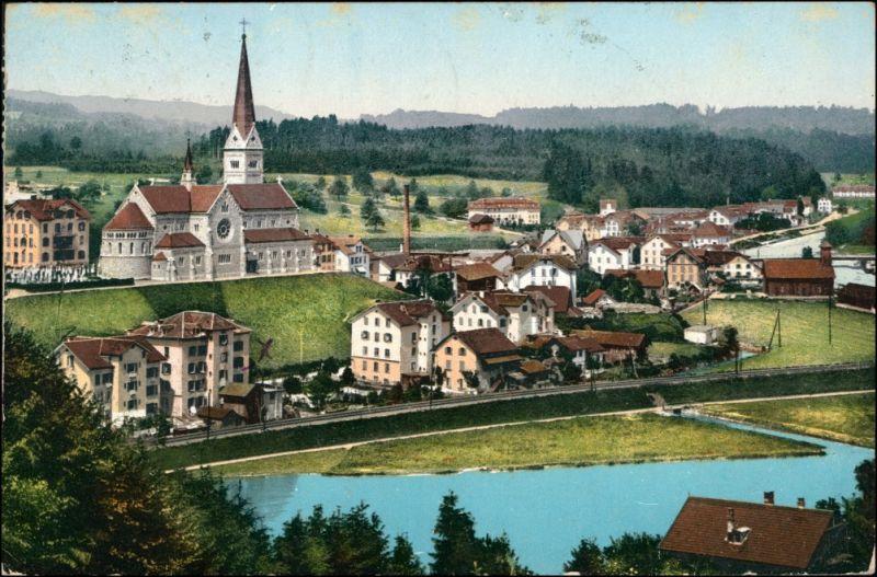 Ansichtskarte Reussbühl - Littau-Luzern Lucerna Blick auf die Stadt 1908