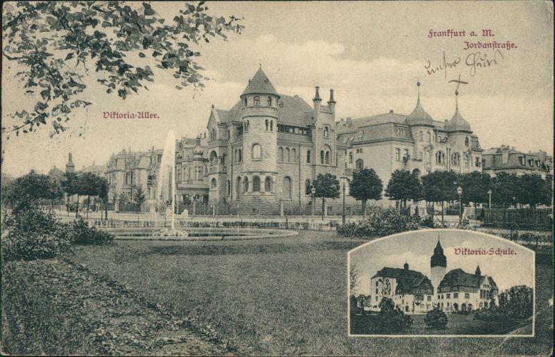 Bockenheim-Frankfurt am Main 2 Bild: Jordanstrasse, Viktoria Allee 1909