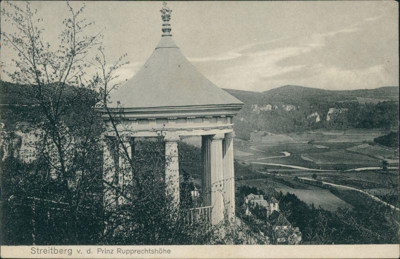 Ansichtskarte Streitberg-Wiesenttal Pavillon - Prinz Rupprechtshöhe 1910