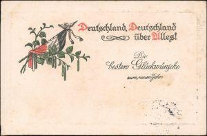 Ansichtskarte  Neujahr! Patriotika: Deutschland Deutschland über alles! 1915