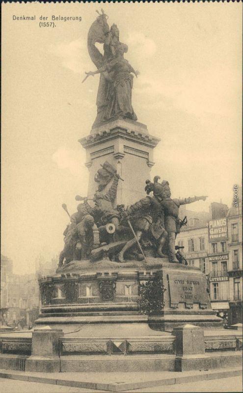Postkaart Brüssel Bruxelles Denkmal der Belagerung 1915