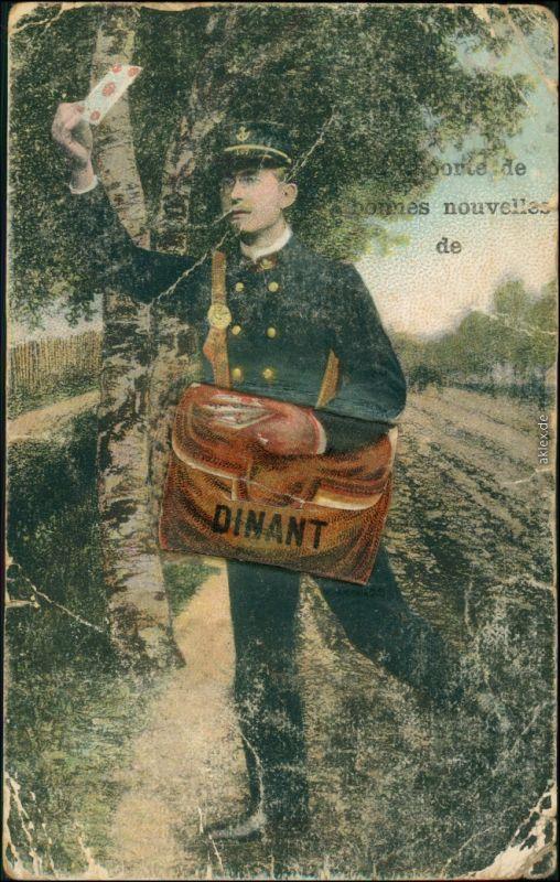 Postkaart Dinant Dinant Leporello - Briefträger 1900 Leporello
