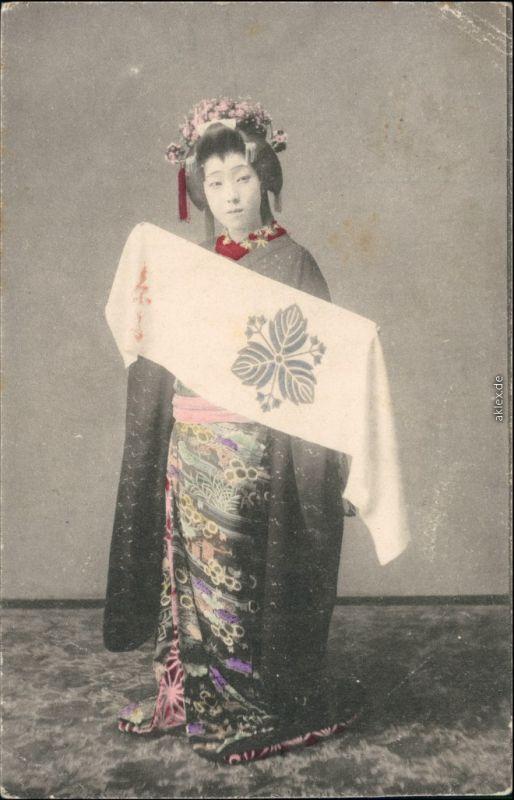 Postcard _Allgemein Japan Japan - Nippon - Typen Geisha 1912