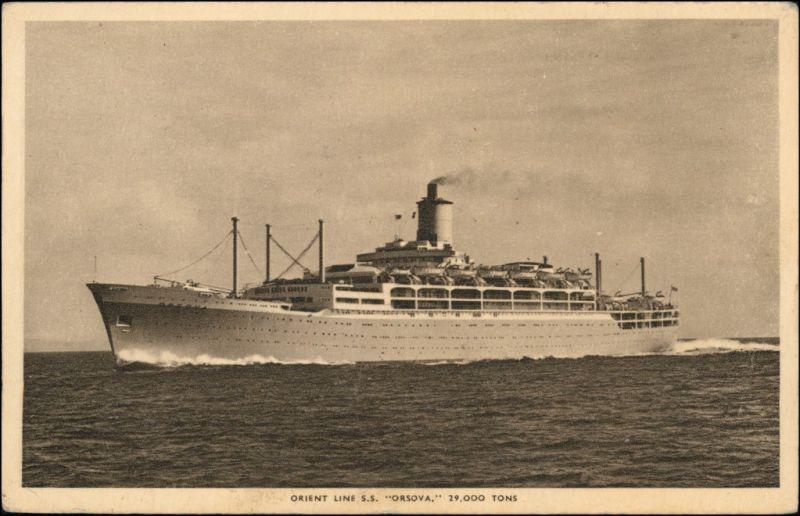 Ansichtskarte  Orient Line S.S. Orsova 29000 Tons 1956
