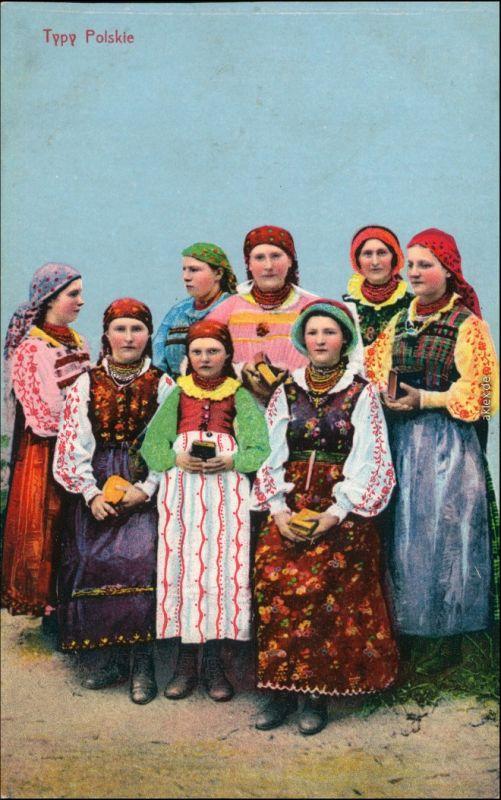 Polen (Allgemein) Frauen, Bauerngruppe - Polskie Tyty - Polen 1918