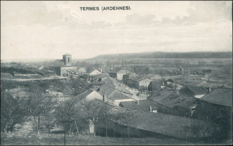 CPA Termes (Ardennes) Straßenpartie und Stadt 1914