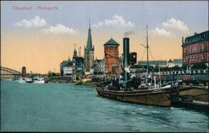 Ansichtskarte Düsseldorf Stadt, Rheinpartie - Dampfer Lisbeth 1919