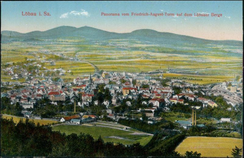 Ansichtskarte Löbau Partie an der Stadt 1914