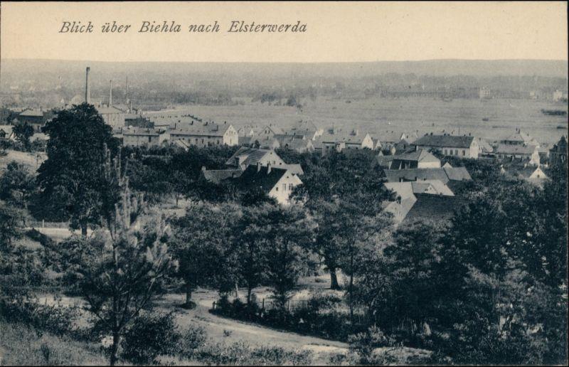 Ansichtskarte Biehla-Elsterwerda Wikow Blick nach Biehla - Fabriken 1912