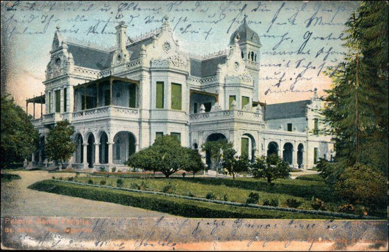 Postcard Buenos Aires Partie an der Villa 1906