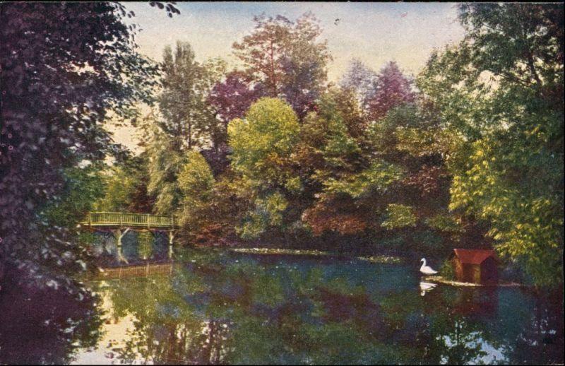 Ansichtskarte Jena Au der Rasenmühleninsel 1918