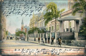 Postcard Buenos Aires Avenida Alvear Argentinia  1906