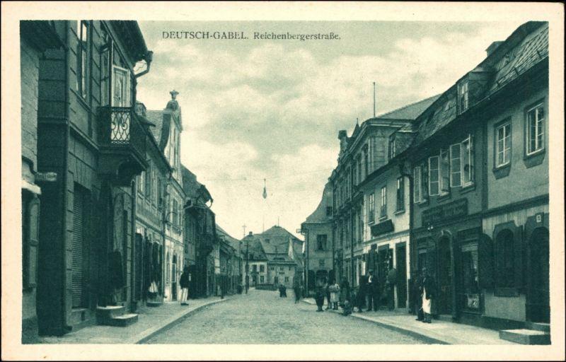 Deutsch Gabel Jablonné  Reichenbergerstraße b Liberec Reichenberg 1925