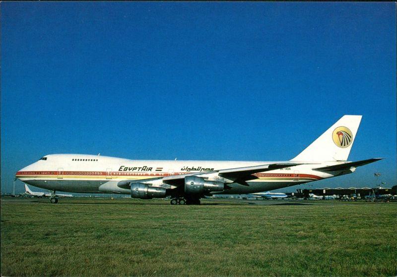 Ansichtskarte Orly EGYPTAIR Boeing 747 (9K-ADA) Flughafen Paris Orly 1990