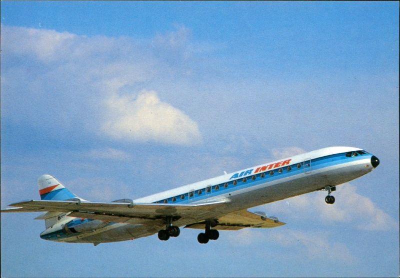 CPA Orly Flugzeug AIR INTER Caravelle 12 (F-GCUJ) Paris Orly 1990