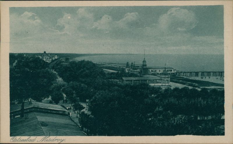 Postcard Misdroy Międzyzdroje Blick auf die Promenade 1928