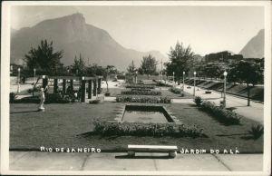 Postcard Rio de Janeiro Jardim de Alah 1942