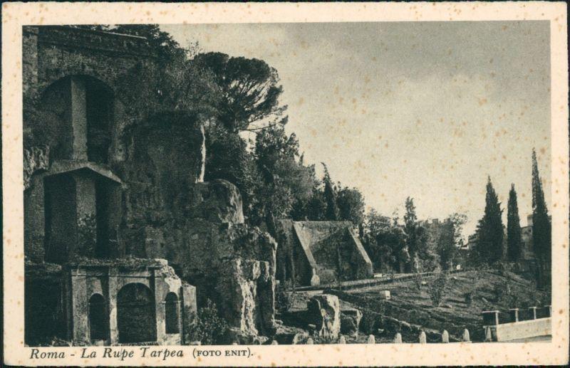 Cartoline Rom Roma La Rupe Tarpea 1955
