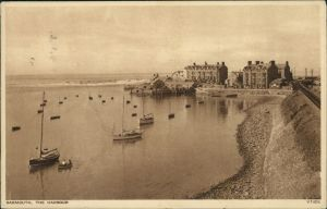 Postcard Barmouth The Harbour/Hafen 1932