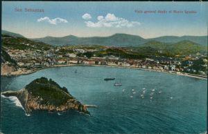 San Sebastian Donostia / Donosti Vista general desde el Monte Igueldo 1915