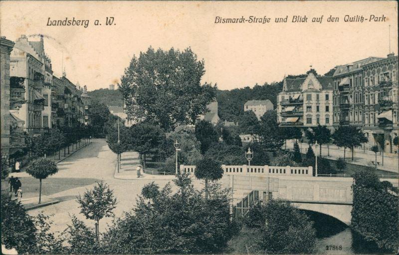 Postcard Landsberg (Warthe) Gorzów Wielkopolski Bismarck-Straße 1909