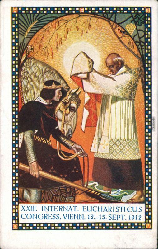 Ansichtskarte Wien Xxiii Internationaler Eucharisticus Congress 1912 Wien