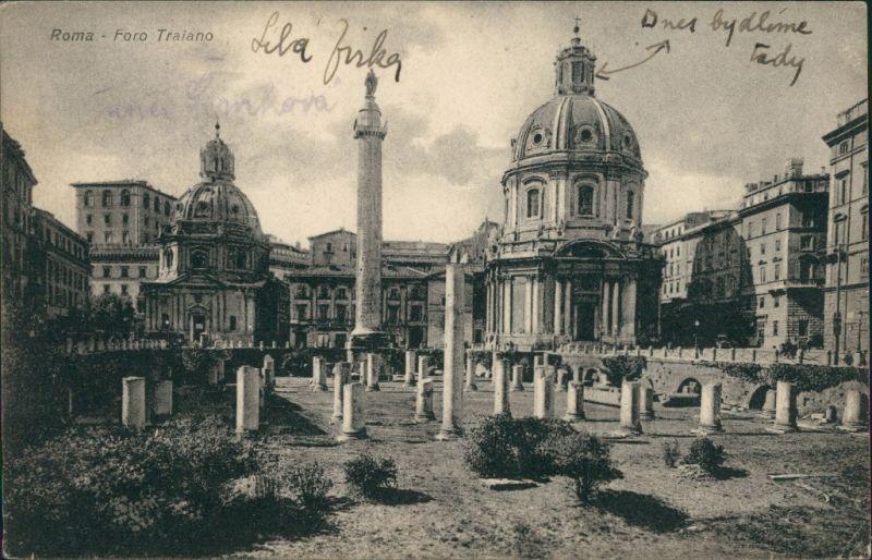 Cartoline Rom Roma Foro Traiano 1942